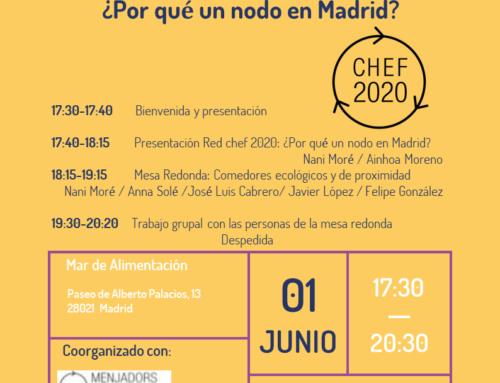 Cocinando redes. Presentación de la Red Chef 2020.