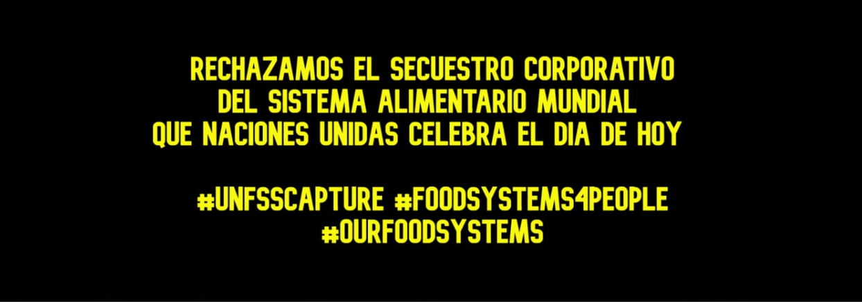 Secuestro corporativo de la cumbre de la ONU de Sistemas Alimentarios